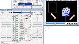 【AviUtl】中間点とは?簡単な使い方と各画面の見方について