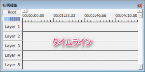 拡張編集タイムライン_画像