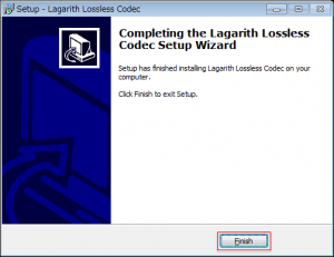 Lagarith Lossless Video Codec_インストール2