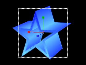 立体図形(星)-カメラ2