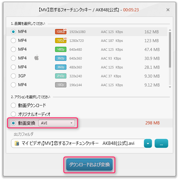 Freemake Video Downloader_使い方8