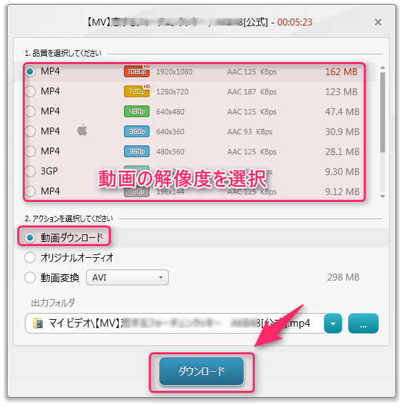 Freemake Video Downloader_使い方2