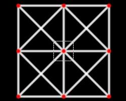 正方形格子線3