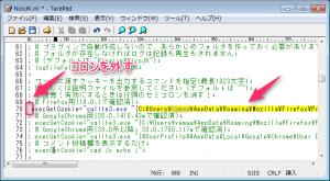 「NicoJK.ini」ファイルの「execGetCookie」
